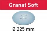Шлифовальные круги Festool Фестул  Granat Soft StickFix Ø225 мм (с перфорацией)