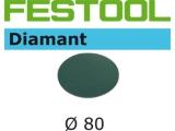 Шлифовальные круги Festool Diamant StickFix Ø80 мм для стойких к царапинам поверхностей (Фестул)
