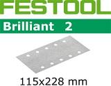 Шлифовальные полоски Festool Фестул Brilliant 2 STF 115X228 мм