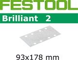 Шлифовальные полоски Festool Фестул Brilliant 2 STF 93x178 мм