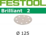 Шлифовальные круги Festool Brilliant 2 StickFix Ø125 мм (Фестул)