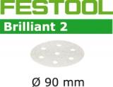 Шлифовальные круги Festool Фестул Brilliant 2 StickFix Ø90 мм