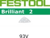 Шлифовальные листы Festool Brilliant 2 StickFix 93V для лаков и красок RUTSCHER RS 300 (Фестул)