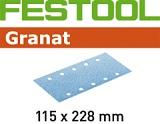 Шлифовальные полоски Festool Фестул Granat STF 115X228 мм