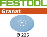 Шлифовальные круги Festool Фестул Granat StickFix Ø225 мм (с перфорацией)