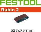 Шлифовальные ленты Festool Фестул Rubin 2, 533x75 мм