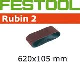 Шлифовальные ленты Festool Фестул Rubin 2, 620x105 мм