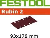 Шлифовальные полоски Festool Фестул Rubin 2 STF 93X178 мм