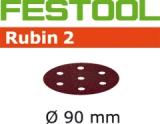 Шлифовальные круги Festool Rubin 2 StickFix Ø90 мм для древесных материалов (Фестул)