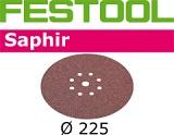 Шлифовальные круги Festool Saphir StickFix Ø225 мм для жёстких условий применения (с перфорацией) (Фестул)