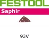 Шлифовальные листы Festool Saphir StickFix 93V для особенно жёстких условий эксплуатации (Фестул)