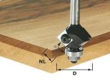 Фрезы Festool Фестул для снятия фаски/обработки кантов со сменными ножами HW, с опорным подшипником, хвостовик 8 мм