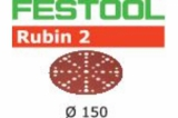 Шлифовальные круги Festool Фестул Rubin 2 StickFix Ø150 мм для древесных материалов