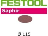 Шлифовальные круги Festool Saphir StickFix Ø115 мм для жёстких условий применения (Фестул)