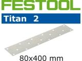 Шлифовальные полоски Festool Titan 2 STF 80X400 мм (Фестул)
