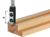 Пазовые однорезцовые фрезы Festool Фестул HW со сменными ножами с нижней режущей кромкой, хвостовик 8 мм
