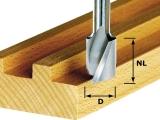 Пазовые спиральные фрезы Festool HS с нижней режущей кромкой, хвостовик 8 мм (Фестул)