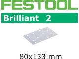 Шлифовальные полоски Festool Brilliant 2 STF 80x133 мм (Фестул)