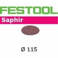 Шлифовальные круги Festool Фестул Saphir, STF D115/0 P80 SA/25