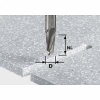 Спиральная пазовая фреза Festool Фестул HW, хвостовик 12 мм, HW Spi D12/42 RD ss S12