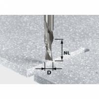 Спиральная пазовая фреза Festool Фестул HW для черновой и чистовой обработки, хвостовик 12 мм, HW Spi D12/42 LD ss S12. Магазин FE-ФЕ FESTOOL (фестул)