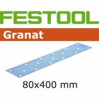 Шлифовальные полоски Festool Фестул Granat, STF 80X400 P100 GR/50