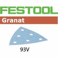 Шлифовальные листы Festool Фестул Granat, STF V93/6 P80 GR/50