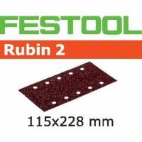 Шлифовальные полоски Festool Фестул Rubin 2, STF 115X228 P80 RU2/50