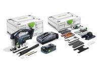 Аккумуляторный маятниковый лобзик CARVEX PSBC 420 HPC 4,0 EBI-Set, Festool Фестул 100tool.ru