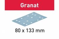 Шлифовальные полоски Festool Фестул Granat, STF 80x133 P80 GR/50