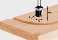 U-образная фреза пазовая Фестул Festool HW S8 R6,4 KL, хвостовик 8 мм