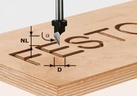 Шрифтовая фреза Festool Фестул HW S8 D11/60°, хвостовик 8 мм