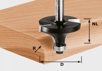 Скругляющая фреза Festool Фестул HW S8 D42,7/R15 KL, хвостовик 8 мм