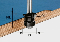 Фреза Festool Фестул HW S8 D24/0° +45° для снятия фаски/пригонки, хвостовик 8 мм
