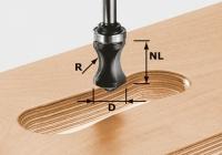 Фреза Festool Фестул HW S8 R16/NL32 для профилирования отверстий под ручки, хвостовик 8 мм