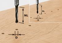 Фреза-сверло Festool Фестул HW D3/16 для изготовления отверстий под шканты, хвостовик 8 мм