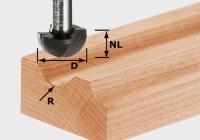 Фреза Festool Фестул HW S12 D40/25/R20 для выборки желобка, хвостовик 12 мм