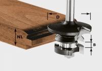 Гребневая контр-профильная фреза Festool Фестул HW S8 D43/21 A/KL, хвостовик 8 мм