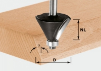 Фреза Festool Фестул HW S8 D25,7/25,7/15° для профилирования фасок, хвостовик 8 мм