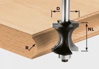 Профильная фреза Festool Фестул HW S8 D30/28 для формирования полукруглого канта, хвостовик 8 мм