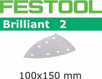Шлифовальные листы Festool Фестул Brilliant 2, STF DELTA/7 P400 BR2/100