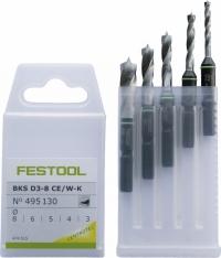 Кассета со свёрлами Festool фестул CENTROTEC BKS Ø 3-8 CE/W-K по дереву
