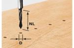 Фреза-сверло HW S8 D5/30 для сквозных отверстий, хвостовик 8 мм, Festool Фестул