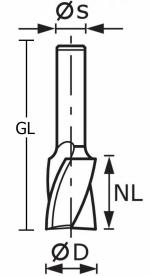 Скругляющая фреза Festool Фестул HW S8 D24/R6/30°, хвостовик 8 мм