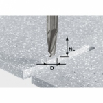Спиральная пазовая фреза HW, хвостовик 12 мм, HW Spi D12/42 RD ss S12, Festool Фестул