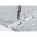 Спиральная пазовая фреза Festool HW, хвостовик 10 мм, HW D10/27 ss S10