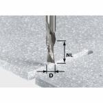 Спиральная пазовая фреза Festool HW для черновой и чистовой обработки, хвостовик 12 мм, HW Spi D12/42 LD ss S12