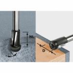 Пригоночная фреза Festool HW, хвостовик 12 мм, HW D19/25 ss S12