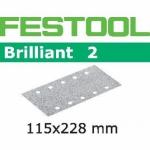 Шлифовальные полоски Festool Brilliant 2, STF 115x228 P400 BR2/100