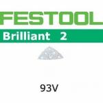Шлифовальные листы Festool Brilliant 2, STF V93/6 P400 BR2/100